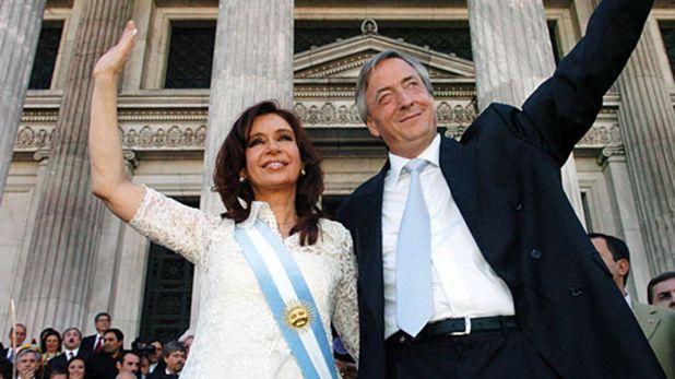 Cristina y Néstor Kirchner (Télam)