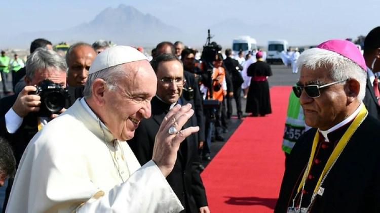 Francisco en el momento en que llegó a Trujillo (AFP)