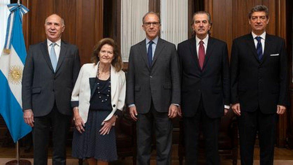 Los cinco jueces de la Corte Suprema de Justicia de la Nación