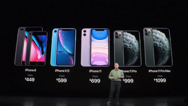 Los precios de los nuevos iPhones y de la generación anterior