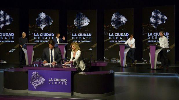 Debate porteño: pocos cruces y nada de interacción (foto: Gustavo Gavotti)