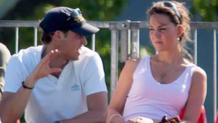 William y Kate, entonces novios, en el Beaufort Polo Club el 18 de junio de 2005