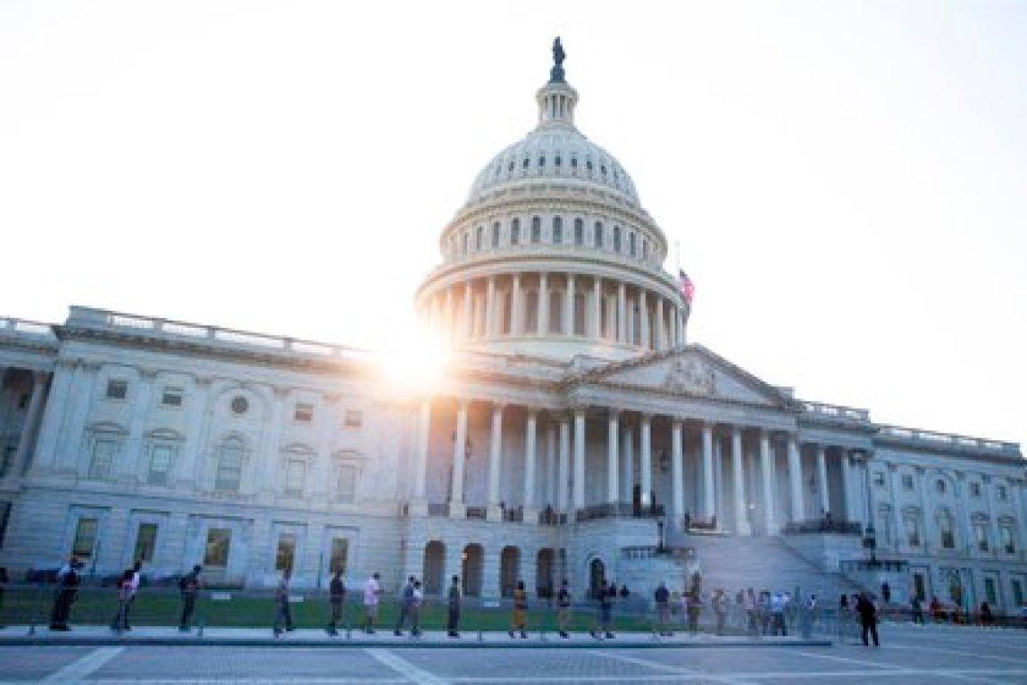Vista del edificio del Capitolio en Washington