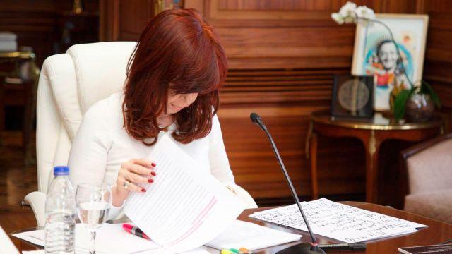 Cristina Kirchner expone en la audiencia judicial por la investigación del Memorándum con Irán