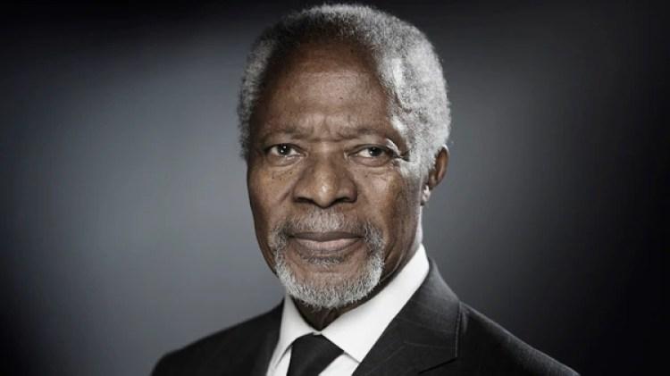 En la cuenta oficial de Twitter de Annan, sus familiares publicaron un mensaje en el que señalaron que el fallecimiento se produjo tras recibir tratamiento por una corta enfermedad (AFP)