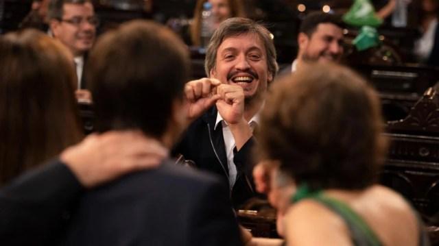 Máximo Kirchner, presidente del bloque de diputados oficialistas. Avanza el proyecto ya modificado.