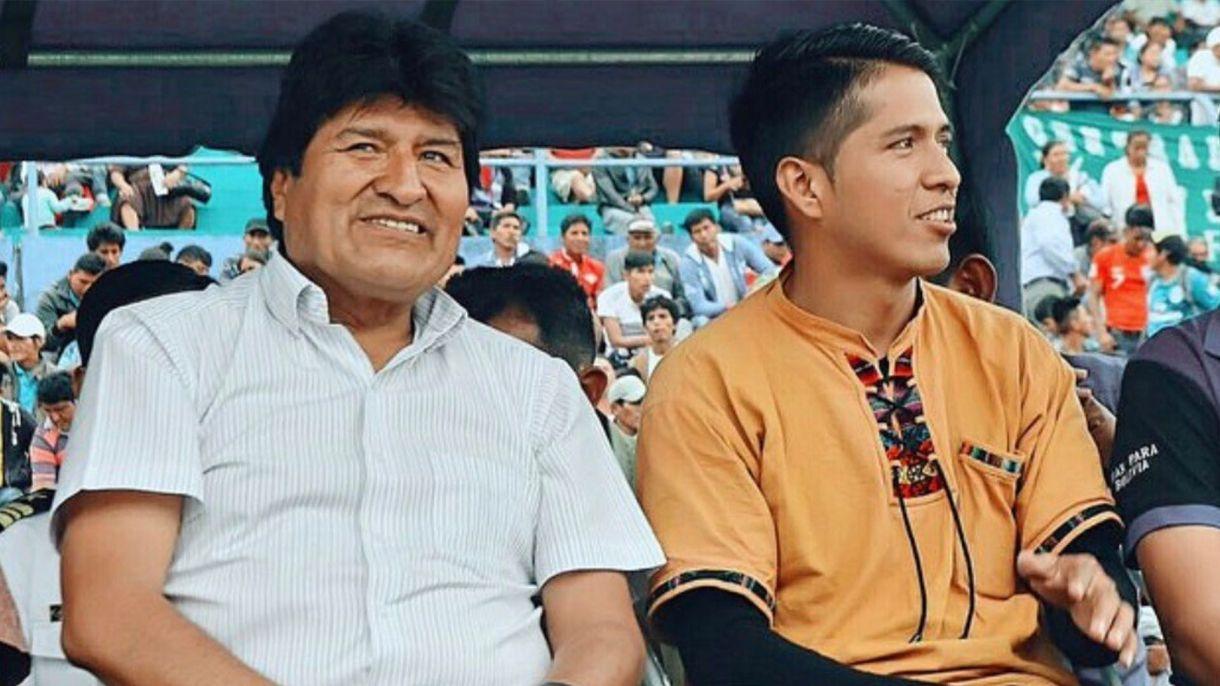 Andrónico Rodríguez Ledezma aparece siempre en los escenarios de los actos públicos sentado a un costado de Evo Morales