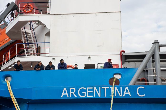 La Armadora argentina Vessel propietaria del buque escuela Argentina C  es una de las afectadas por la baja del convenio binacional (Foto: Franco Fafasuli)