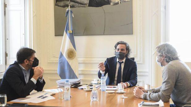 Felipe Miguel, Carlos Bianco y Santiago Cafiero