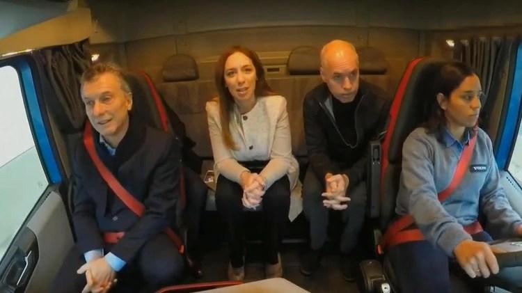 Macri, Vidal y Rodríguez Larreta