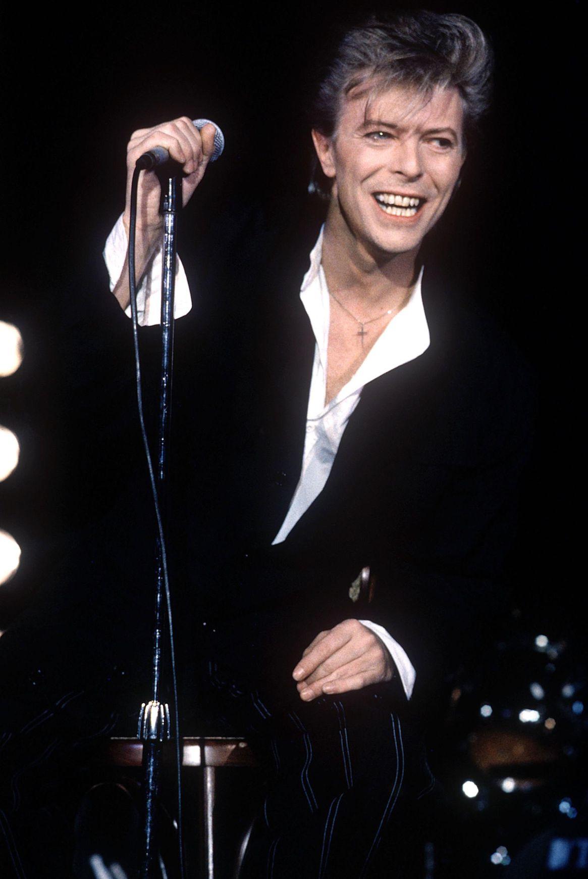 David Bowie en el Live Aid, en el estadio de Wembley, en Londres (Grosby Group)