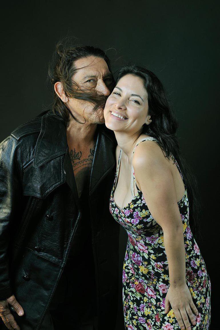 Danny Trejo con Griselda Sánchez, actriz y una de las guionistas de la película