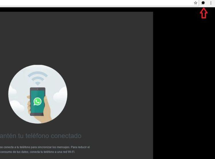 Para desactivar el modo oscuro hay que presionar en el botón oscuro en la zona superior del navegador Chrome
