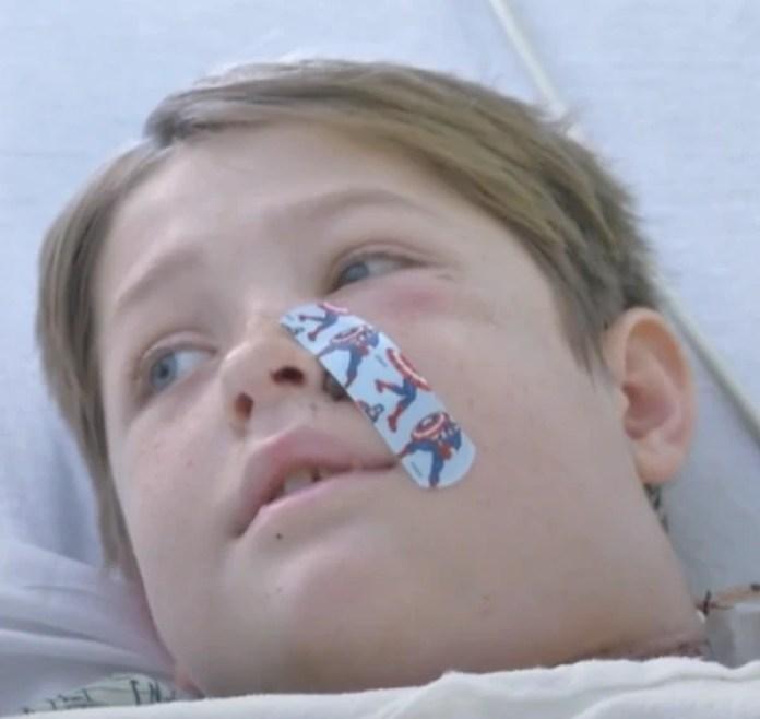 Xavier Cunningham en su cama del Hospital de la Universidad de la Ciudad de Kansas