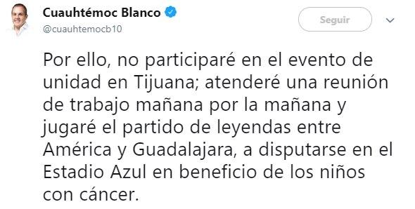 """""""El Cua"""" será el gran ausente en el festejo de AMLO (Foto: Twitter)"""
