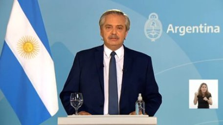 """""""Frente al virus, tenemos que tomar medidas firmes"""", dijo Alberto Fernández durante su discurso"""