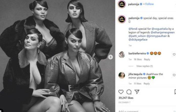 Paloma junto a otras colegas del mundo de la moda en uno de sus posteos en su cuenta de Instagram.