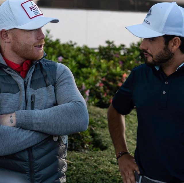 El golfista Abraham Ancer compartió la ronda con Saúl Álvarez (Foto: Instagram @abrahamancer)