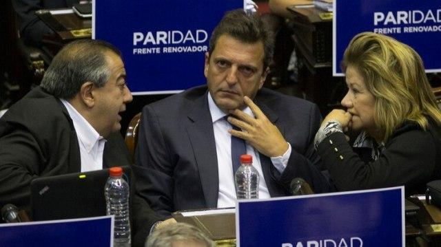 Héctor Daer, Sergio Massa y Graciela Camaño