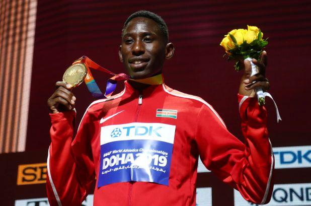 Kipruto obtuvo medallas de oro en los Mundiales de Londres y Doha, además de en los JJ.OO de Rio 2016