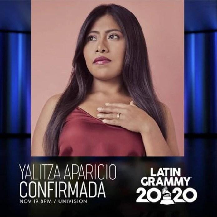 Yalitza Aparicio será una de las conductoras de la ceremonia de los Latin Grammy (Foto: Instagram@latingrammys)