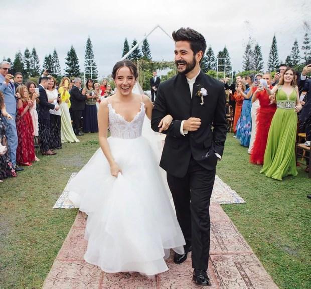 Evaluna Montaner se mostró feliz junto a su flamante marido, el cantante Camilo (Instagram)