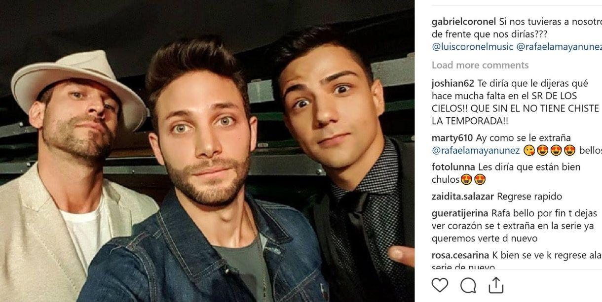 Rafael Amaya, junto a Gabriel y Luis Coronel (Instagram / gabrielcoronel)