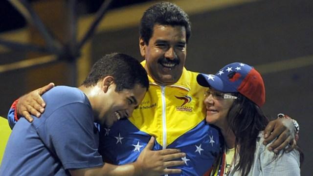 """""""Nicolasitoâ€, Nicolás Maduro y Cilia Flores (AFP)"""