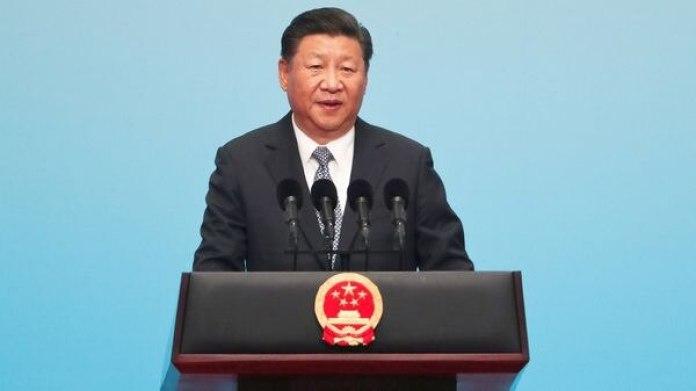 El presidente chino Xi Jinping durante la ceremonia de los BRICS (Reuters)