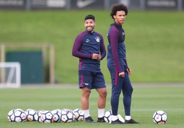 Felicidad en los gestos del Kun (Manchester City)
