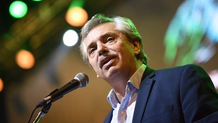 Alberto Fernández, precandidato a presidente por el Frente de Todos (Prensa Máximo Kirchner)