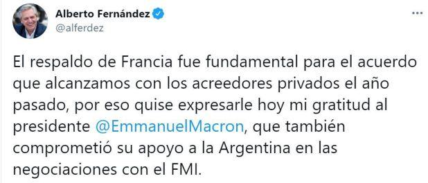 Alberto Fernández-Emmanuel Macron