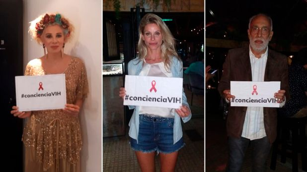 Varios famosos se sumaron a la consigna #ConcienciaVIH, entre ellos Nacha Guevara, Jimena Cyrulik y Oscar González Oro