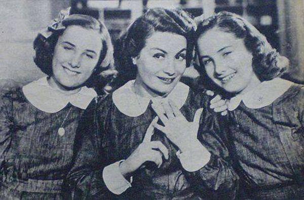 """Las gemelas en """"Hay que educar a Niní"""", con Niní Marshall"""