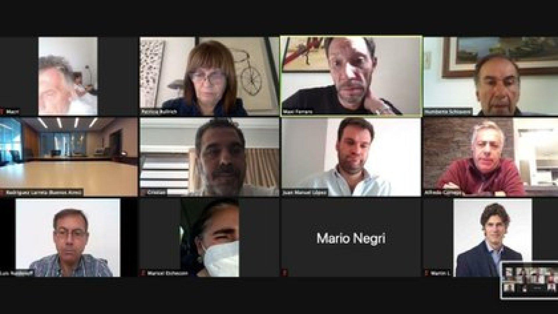 El último encuentro de JxC fue por Zoom e incluyó la foto de Mauricio Macri conectado desde la cama