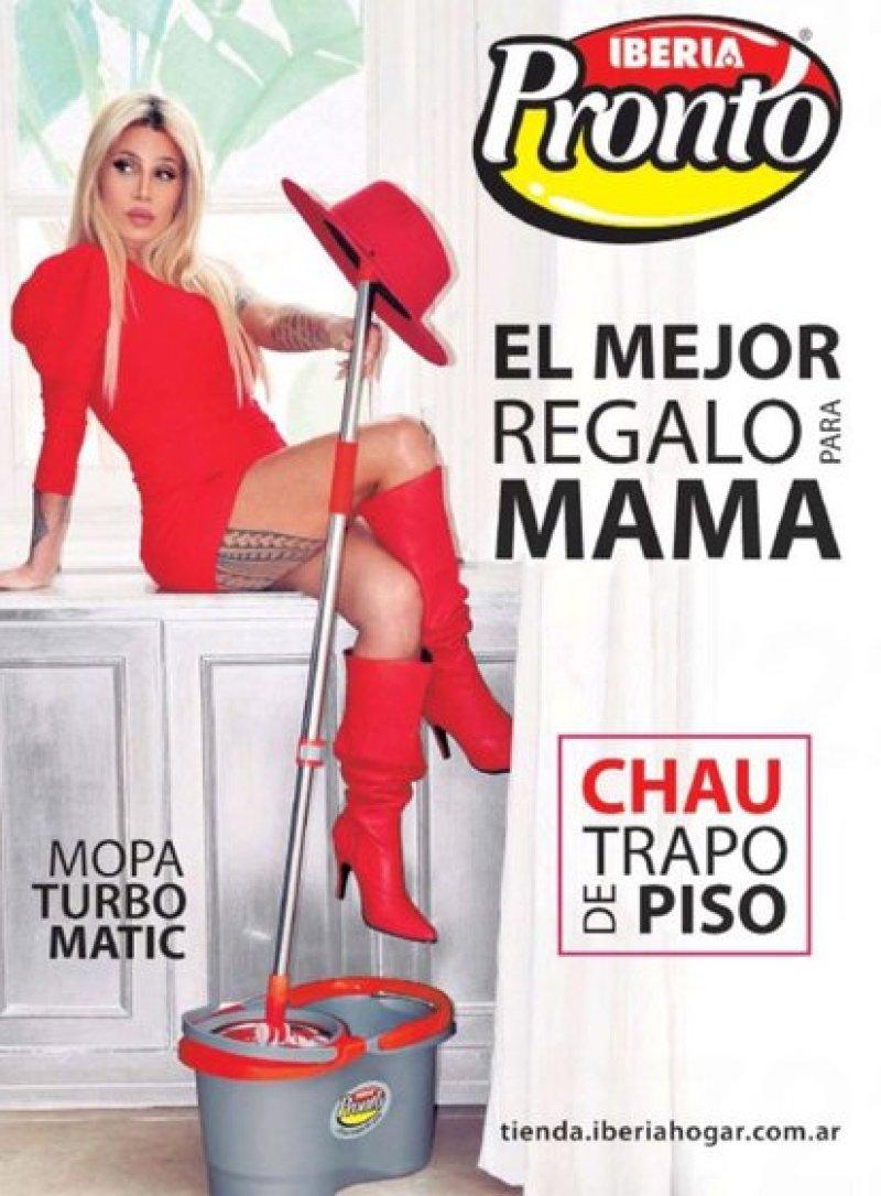 La publicidad de Flor Peña con motivo del Día de la Madre que encendió el escándalo (Foto: Twitter)