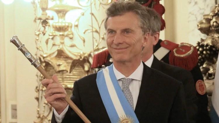 Mauricio Macri (Foto NA: DANIEL VIDES 10 de Diciembre, 2015)