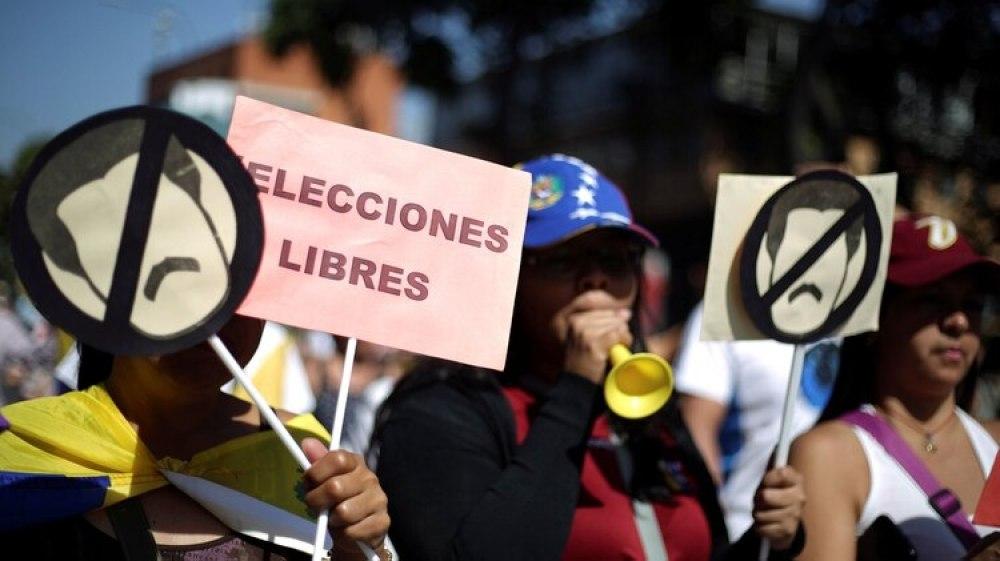 Protesta opositora en Venezuela (Reuters)