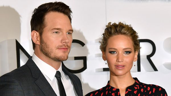 "Chris Pratt y Jennifer Lawrence en la presentación de""Passengers""en Londres"