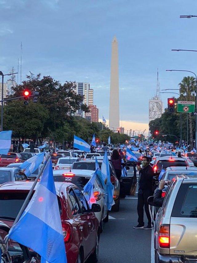 La protesta se sintió con fuerza en todo el país