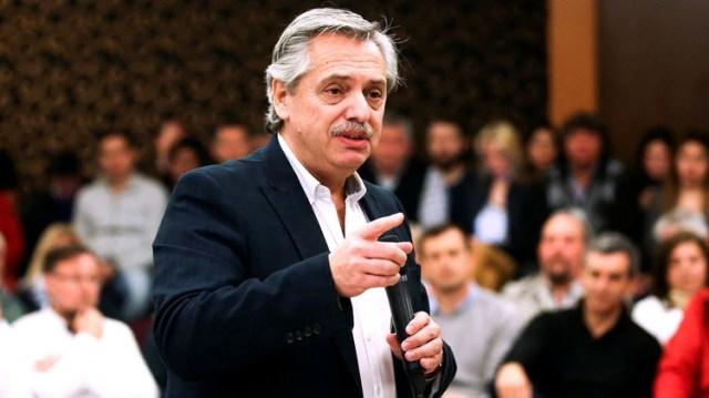 Alberto Fernández, candidato a presidente en la fórmula con Cristina y testigo en el juicio