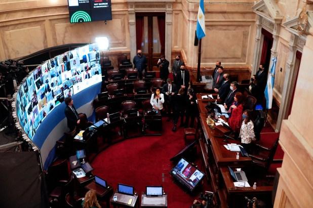 """La sesión del Senado en que se votó el """"Impuesto a las Grandes Fortunas""""  EFE/Juan Ignacio Roncoroni/Archivo"""