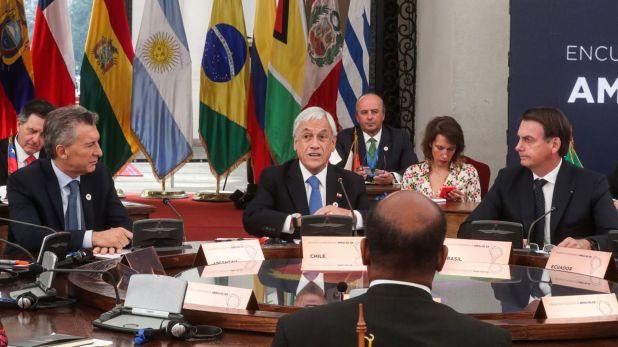 Piñera resaltó la labor de las iniciativas regionales que siguen de cerca la crisis venezolana