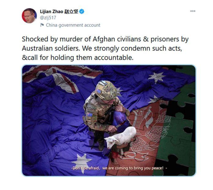 captura Tuit China sobre Australia SF 2