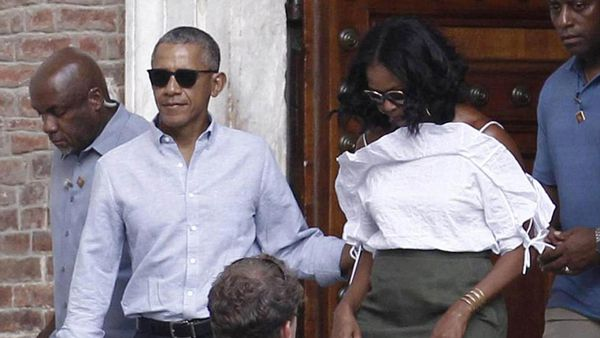 Barack Obama y Michelle en su visita de relax a la Toscana italiana (AP)