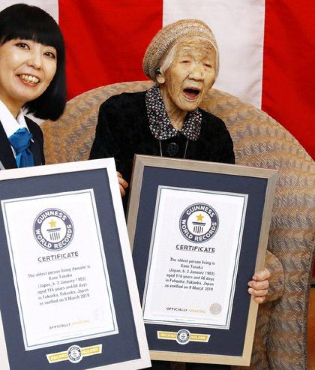 Kane Tanaka entró en el Guinness World Records en 2019 (Foto: REUTERS)