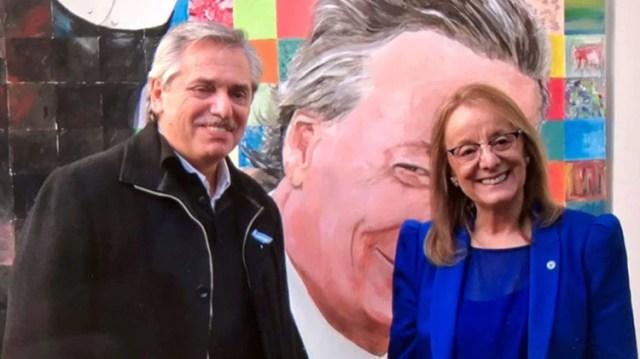 Alberto Fernández y Alicia Kirchner recorrieron Santa Cruz un mes atrás