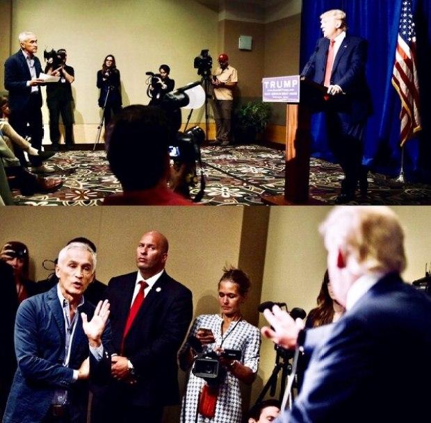 El tenso momento protagonizado por Jorge Ramos y el candidato republicano durante la contienda presidencial