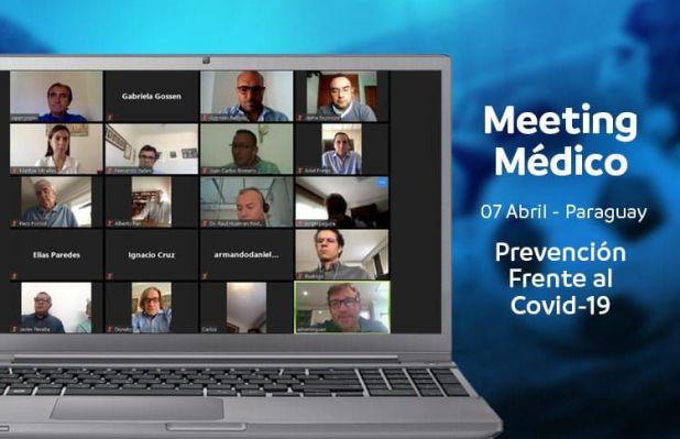 La imagen de uno de los encuentros virtuales