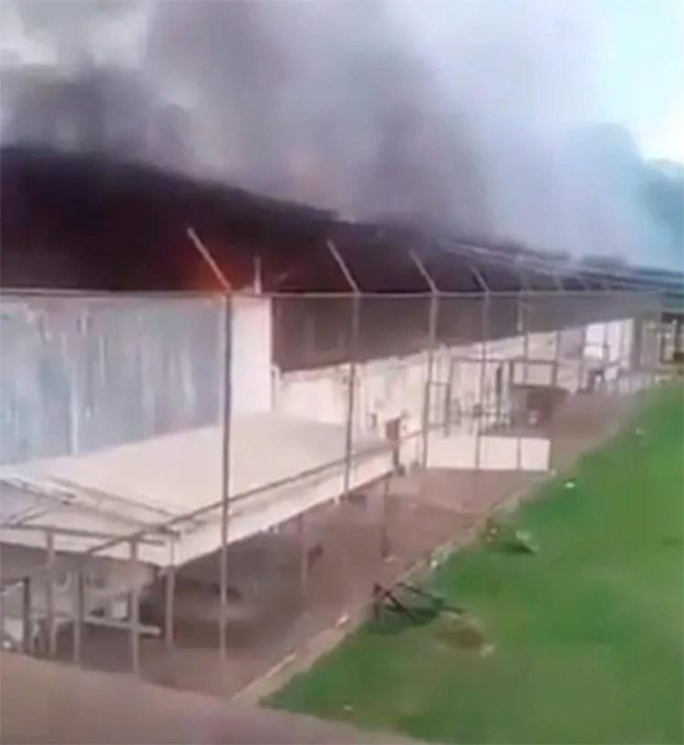 El penal de Altamira, en llamas por el motín